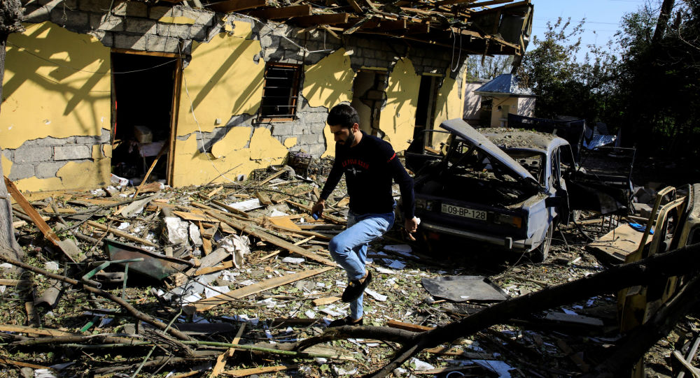 Последствия обстрелов в азербайджанском городе Барда, фото из архива