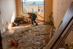 Последствия обстрелов в Тертерском районе Азербайджана