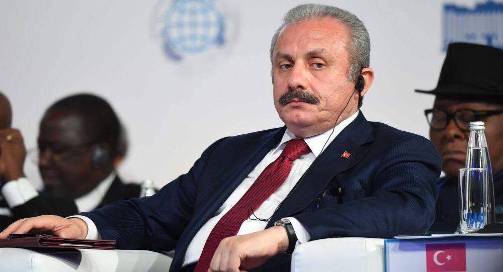 Türkiyə Böyük Millət Məclisinin sədri Mustafa Şentop, arxiv şəkli