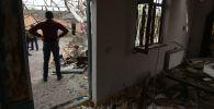 Последствия обстрела в селе Дуярли Тертерского района в Азербайджане, фото из архива