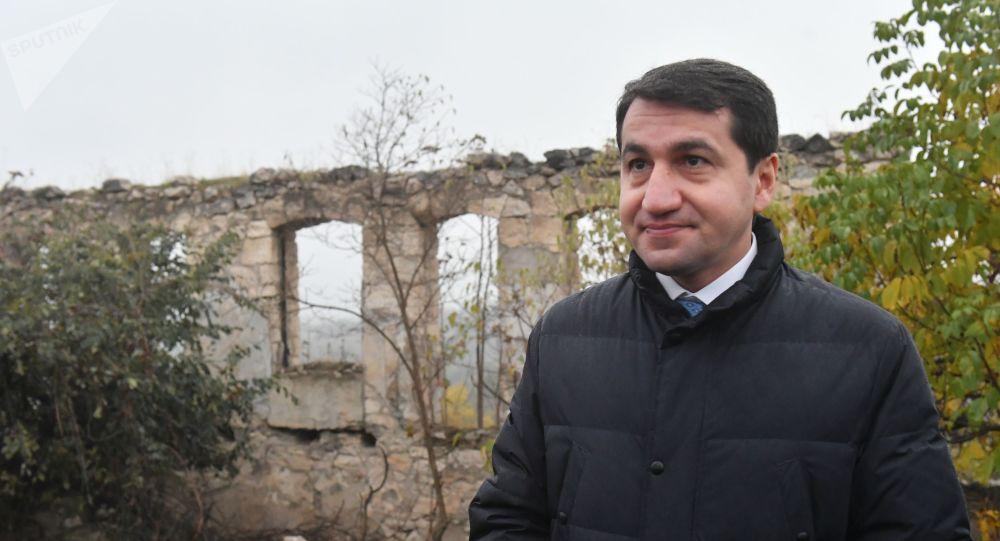 Помощник Президента Азербайджана - заведующий отделом по вопросам внешней политики Хикмет Гаджиев, фото из архива