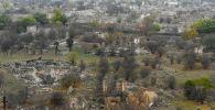 Вид разрушенной части города Агдам, фото из архива