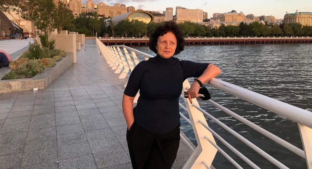 Заслуженный художник Азербайджана Ирина Эльдарова, фото из архива