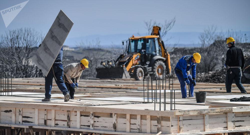 Строительство автодороги на Шушу в Ходжавендском районе Азербайджана