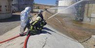 Тактические учения пожарных отрядов Государственной службы противопожарной охраны министерства по чрезвычайным ситуациям