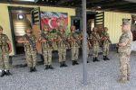 Церемония открытия новой воинской части в Агдаме