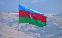 Флаг Азербайджана в городе Шуша.