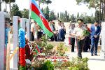 Руководство Министерства обороны посетило Вторую Аллею Шехидов