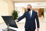 Президент Ильхам Алиев на открытии капитально реконструированной подстанции Абшерон