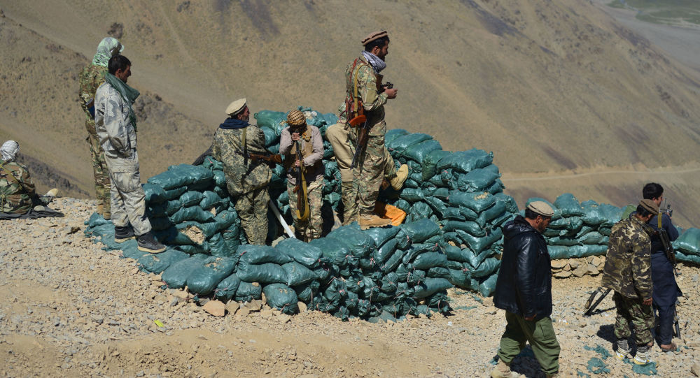 Pəncşir vilayətində Taliban (Rusiyada və digər ölkələrdə qadağan olunmuş terror qruplaşması ) hərəkatına qarşı müqavimət qüvvələri, arxiv şəkli