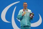 Azərbaycan üzgüçüsü Roman Saleh Tokio-2020 Paralimpiya Oyunlarının mükafatlandırılma mərasimində