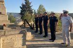 Делегация Военно-морского флота Российской Федерации у памятника морякам, погибшим в результате затопления судна «Куба»