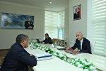 Встреча министра экономики и промышленности Азербайджана Шахина Мустафаева с жителями южных регионов республики.
