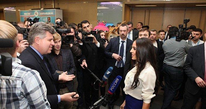 Вице-президент Фонда Гейдара Алиева Лейла Алиева на форуме АМОР в Москве