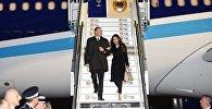 Президент Азербайджана с супругой прибыл во Францию