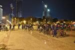 Движение велосипедистов Critical mass в Баку, архивное фото