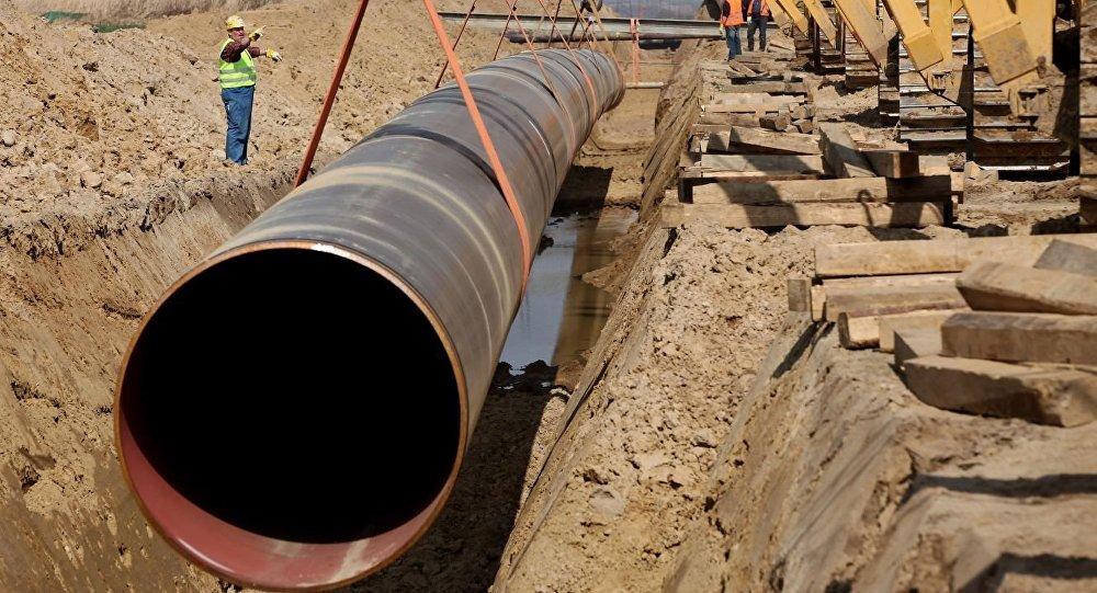 Строительство газопровода. Архивное фото