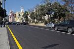 Асфальтное покрытие на трассе Baku City Circuit, Архивное фото