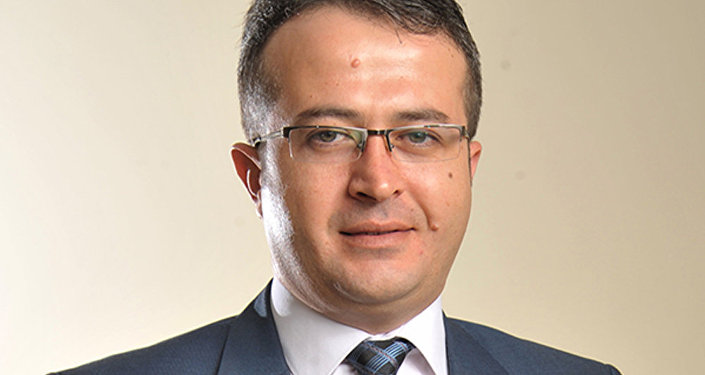 Türk politoloq Ahmet Akaydın. Arxiv foto