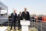 Президент Ильхам Алиев принял в церемонии открытия платформы проекта Шах Дениз-II