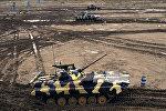 Военные учения подразделений бронетехники ВС Азербайджана