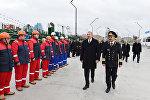 Ильхам Алиев принял участие в церемонии сдачи в эксплуатацию новых судов Каспийского морского пароходства