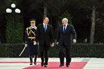 Церемония официальной встречи Президента Беларуси Александра Лукашенко, фото из архива