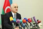 Пресс-конференция министра экономики АР Шахина Мустафаева по итогам визита азербайджанской делегации в Исламскую Республику Иран