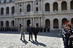 Церемония официальной встречи Президента Ильхама Алиева в Париже