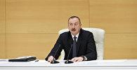 Prezident İlham Əliyevin qeyri-neft ixracatçılarının Yevlaxda keçirilən respublika müşavirəsində çıxışı