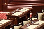 Пустующее рабочее место депутата парламента Азербайджана