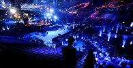 Зрительный зал перед церемонией открытия 61-го международного конкурса песни Евровидение - 2016 в Стокгольме, фото из архива