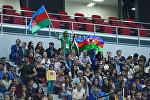 Болельщики на финальном матче по волейболу между женскими сборными Азербайджана и Туриции 4 Игр Исламской солидарности