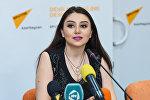 Певица Damla в Международном мультимедийном пресс-центре Sputnik Азербайджан