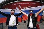 Стадион Казань Арена перед матчем Кубка конфедераций- 2017 Мексика - Россия