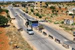 Контрольно-пропускной пункт в городе Идлиб, Сирия, 18 июля 2017 года