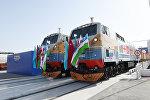 Церемония открытия железной дороги Баку-Тбилиси-Карс, фото из архива