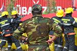 Сотрудники противопожарной службы МЧС Азербайджана, фото из архива