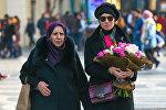 8 Марта на центральных улицах Баку