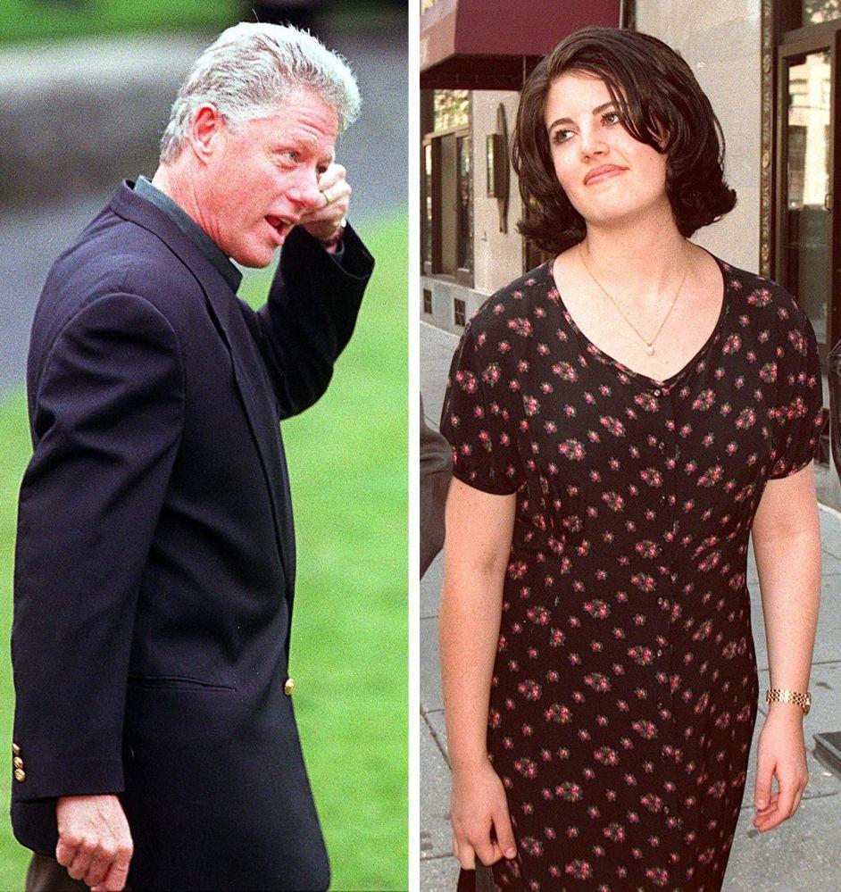 Президент США Билл Клинтон и Моника Левински