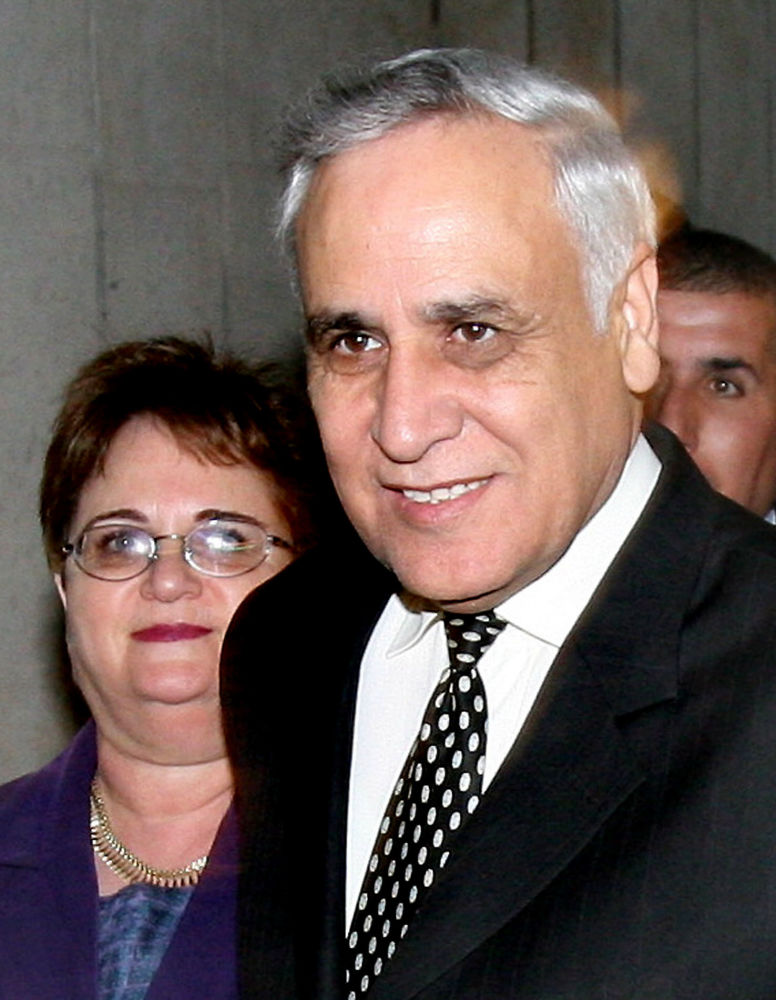 Президент Израиля Моше Кацав с женой Гилой
