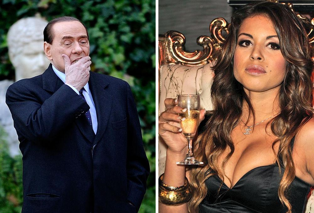 Премьер-министр Италии Сильвио Берлускони и марокканская танцовщица Карима эль-Маруг