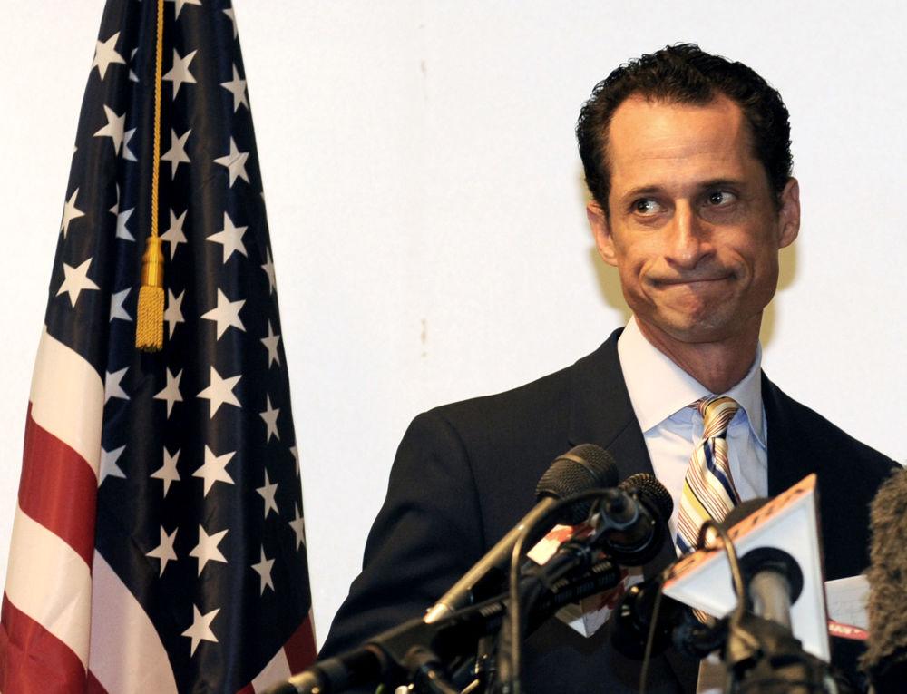Член Палаты представителей США Энтони Винер во время пресс-конференции в Нью-Йорке