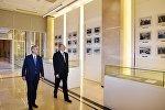 Ильхам Алиев принял участие в открытии нового административного здания партии Ени Азербайджан