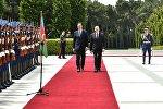 Церемония официальной встречи Президента Сербии Александра Вучича в Баку, фото из архива