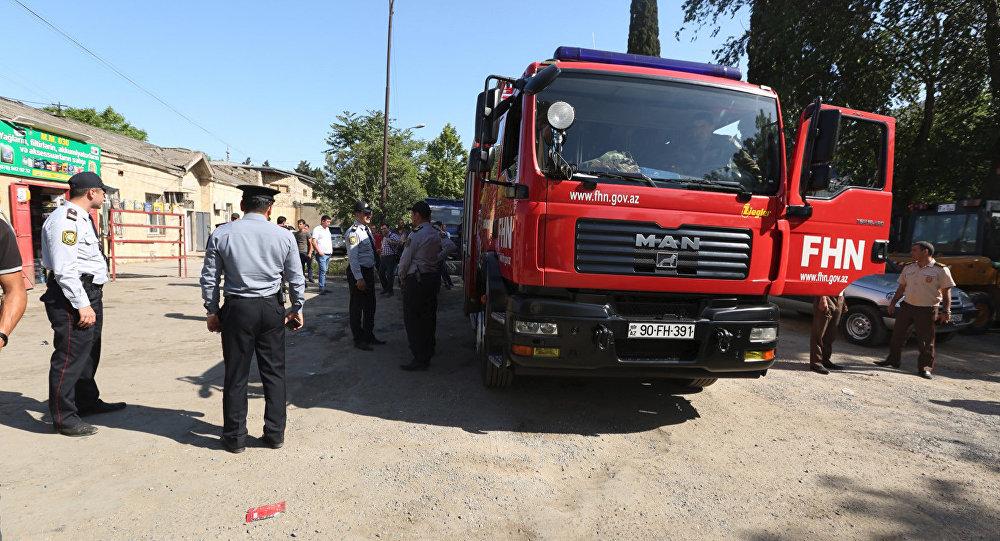 Əhməd Rəcəbli 304 ünvanında yerləşən avtomobil servisinin çayxanasında partlayış