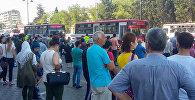 Транспортные проблемы, вызванные приостановкой работы бакинского метрополитена. 4 июля 2018 года