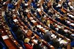 Делегаты в зале на пленарном заседании зимней сессии Парламентской ассамблеи Совета Европы