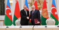Azərbaycan Prezidenti İlham Əliyev və Belarus Prezidenti Aleksandr Lukaşenko