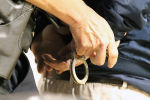Задержание подозреваемого, фото из архива